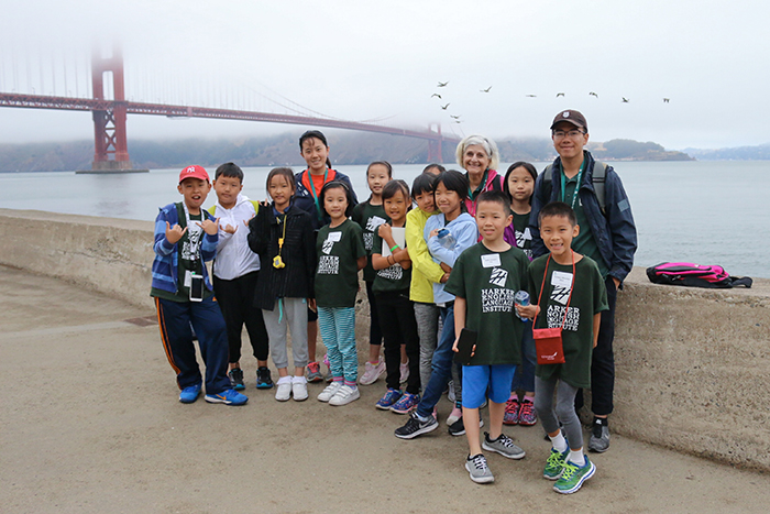 ELI students in front of Golden Gate Bridge